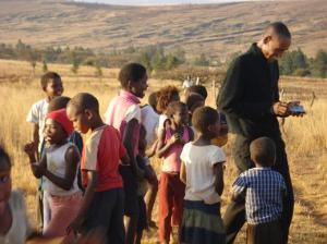 Phumulani with Kids