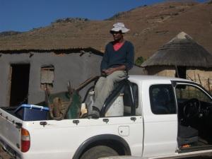 Phumlani ooverseeing the work