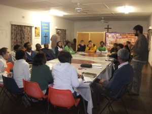 Bible study at Bethany Baptist Church in Vryheid