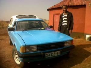 Phumlani with his car