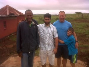 Phumlani, with Morne and Joshua