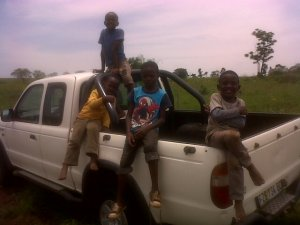 Boys on Car