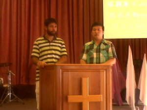 Salvador preaching at the Chinese Assembly in Port Elizabeth