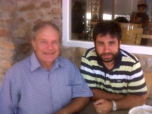 Meeting up with Malcolm Harris in Knysna
