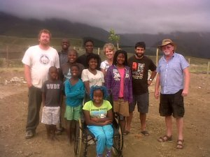 Us with Dave and Chris Royle with all the kids in Swellendam