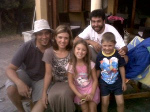 With Paul and Ronel Grobler with their two children