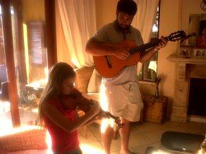 Salvador accompanies Kaylin Grobler