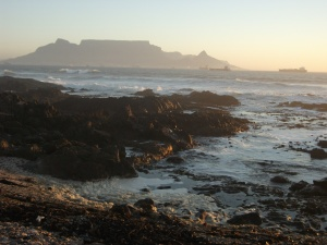 Table Mountain from Bloubergstrand