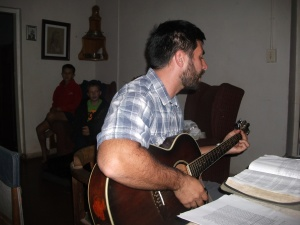 Salvador playing Guitar at Passover
