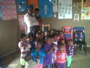 Kids at Sicelo Creche