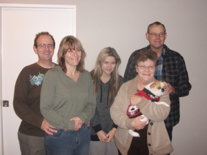 Fanie Du Toit and his family.