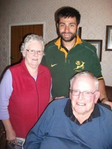 Salvador with Di's parents.