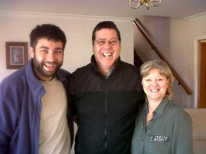 Salvador with Dion and Margie De Klerk who live in Hamilton but used to live in Vryheid, South Africa.