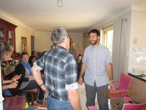 Bible Study at Lee Wardle's in the Hills district, New South Wales, Australia