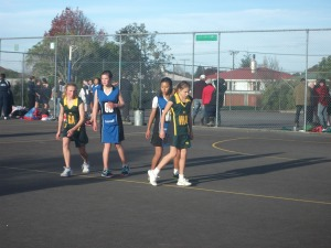 Hattie, Di's niece, plays netball