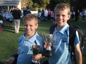 Di's nephews, Will and Ollie win trophies for cross country