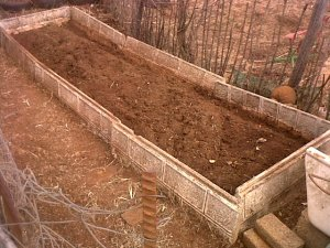 Di has prepared her garden soil for planting