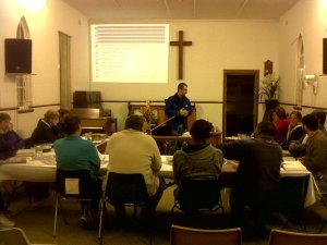 Tony teaches the New Tribes Mission workshop in Vryheid