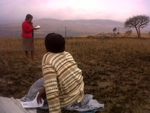 Thembisile preaching the Gospel in Cibilili