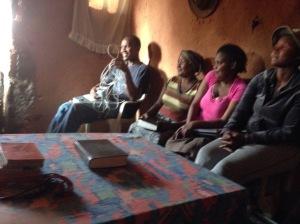 Bible Study at Mkhulu's place