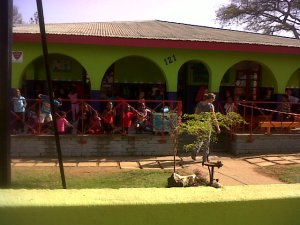 Kids waiting for us at Joyland Creche