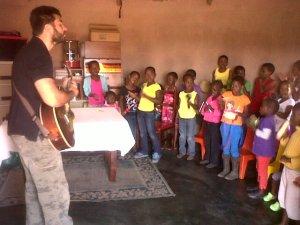 Singing at kid's club