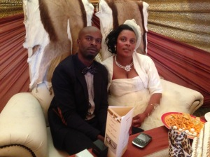 Mr and Mrs Dludla, whose wedding Salvador was asked to give a small message.