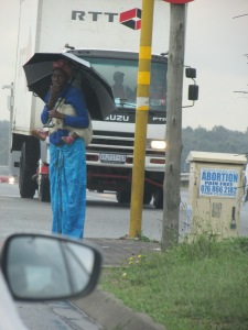 Beggar in Boksburg.