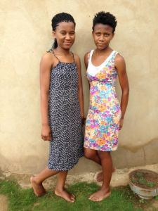 Celani made dresses for her daughters