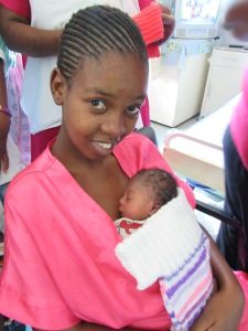 A mother and baby at Vryheid hospital
