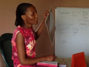 Khethiwe teaches kid's club