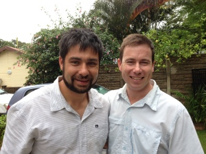 Salvador with Matthew whose home we stayed in.