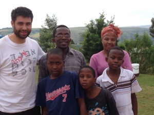 Salvador with Alpheus Mphungose and his family.