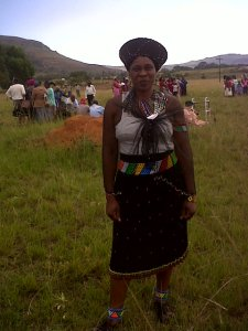 Traditional Zulu dress for women.