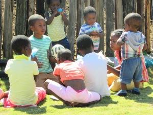 Kids enjoying refreshments after kids club