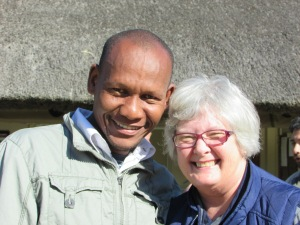 Phumlani with Noelene at the Retreat