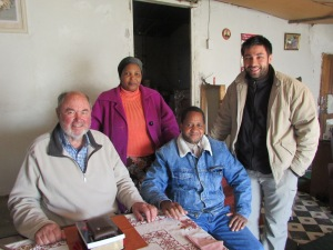 Conducting an interview concerning ancestors in Kokstad