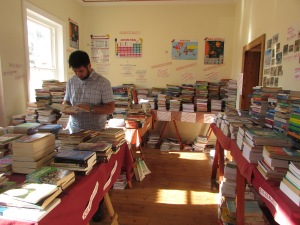 At the second hand bookshop in Gordon's bay