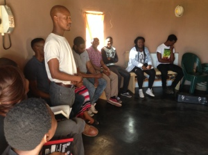 Sibusiso introduces himself at Kids Club