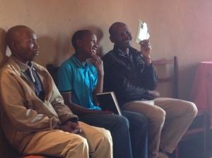 Jabulani, Menzi and Phumlani at church