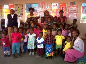 Some of the young people visit the creche