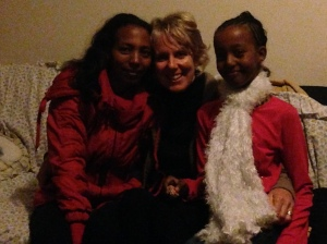 With Hadas from Eritrea and her daughter