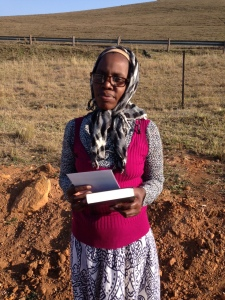 MaKhumalo with her bible