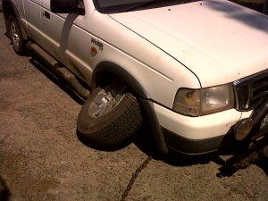 Wheel Bearing gone.